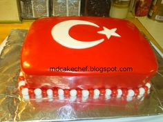 Turkish flag cake!