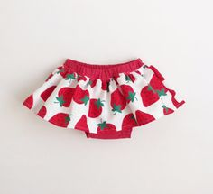 Strawberry Baby Skirt Bloomers Diaper Cover Nappy Cover