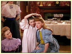 ...Meet Me In St. Louis.  I watch it every Thanksgiving/Christmas, to get the holiday season rolling.  Plus, Margaret O'Brien is such a wretched little thing in this movie, ya gotta love it!
