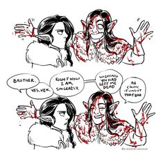 Vox Machina - Meeting the Raven queen pt 2 (Critical Role) Critical Role Comic, Critical Role Characters, Critical Role Fan Art, I Have No Friends, Funny Comic Strips, Vox Machina, D&d Dungeons And Dragons, Sasunaru, Voice Actor