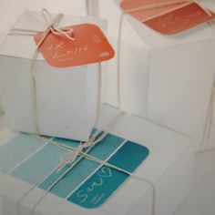 Paint sample gift tags