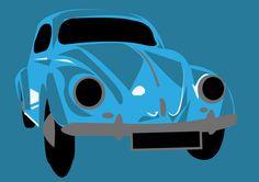 VW Beetle Blue by PurplePetrolPump