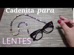 Beading Tutorials, Eyeglasses, Beaded Jewelry, Personalized Items, Beads, Macrame, Youtube, Diy, How To Make Necklaces