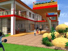 In third place, the proposal by Marvin Ncube makes good use of existing technology and offers beautiful interior solutions with a design intent that shows an understanding of the brief.