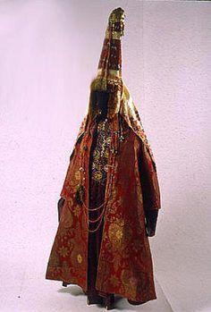 Women's costume. Kazakhs. Central Kazakhstan. Mid XIX century. Funds SEM.
