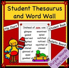 Synonym Bulletin Board and Student Thesaurus - Purple Words All About Me Activities, Back To School Activities, Classroom Board, Bulletin Board, Dictionary Skills, Writing Mini Lessons, I Love School, Teaching Resources, Teaching Ideas
