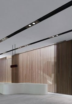 Wooden panels inside the Bao'an Stadium in Shenzen by Gmp Architects (photo C. Gahl) _