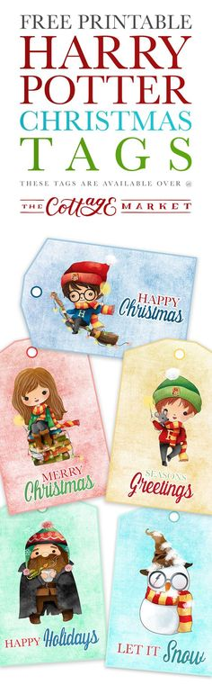 Free Printable Harry Potter Christmas Tags, DIY and Crafts, Free Printable Harry Potter Christmas Tags. Harry Potter Navidad, Harry Potter Fiesta, Harry Potter Weihnachten, Harry Potter Free, Theme Harry Potter, Harry Potter Birthday, Noel Christmas, Christmas Crafts, Xmas