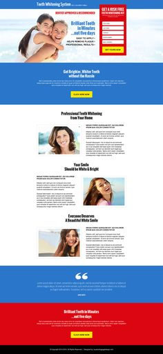 teeth whitening kit risk free trial lead capture landing page design