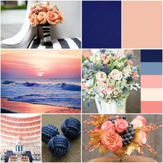 Peach and navy inspiration