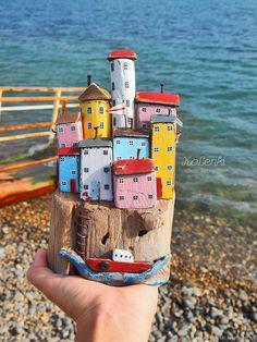 Beach Crafts, Diy Home Crafts, Fun Crafts, Crafts For Kids, Arts And Crafts, Driftwood Crafts, Wooden Crafts, Wood Projects, Craft Projects