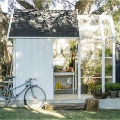 Abri de jardin bois Serre vertigo, 5.91 m² Ep.28 mm   Leroy Merlin