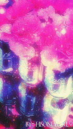 Vintage mason jars galaxy wallpaper I created for the app CocoPPa.
