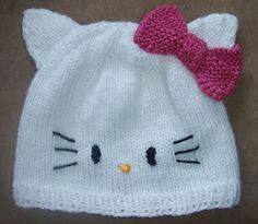 Hello Kitty hat free pattern on ravelry