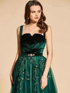 A-Line Beading Lace Empire Straps Evening Dress Simple Dresses, Pretty Dresses, Sexy Dresses, Beautiful Dresses, Fashion Dresses, Prom Dresses, Summer Dresses, Long Dresses, Wedding Dresses