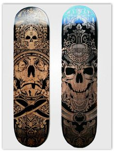HYDRO74 LASER ENGRAVED SKATEBOARDS