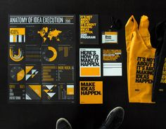99% Conference 2010 Branding and Materials, all done in house by the Behance design team. Yellow, black and Knockout from Frere-Jones.