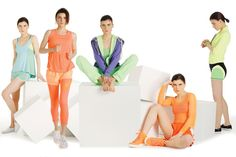 Fall 2013 Trend: Bright Angles - An assortment of activewear looks.