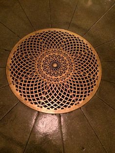 Grate in the Crypt of our nation's capital.