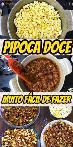 PIPOCAS DOCES – GOURMET #pipoca #cinema #gourmet #pipocadoce #receita #receitafacil #receitas #comida #food #manualdacozinha #aguanaboca #alexgranig