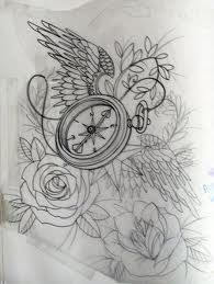 compass tattoo - This would be perfect if the compass was a pocket watch.