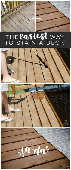 The Easiest Way to Stain a Deck - Lemon Thistle