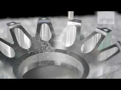Twelve spoke aluminium rim star high-speed milled on DATRON M8Cube - YouTube