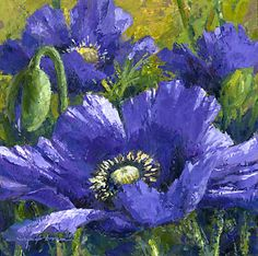 Blue Poppies by Jennifer Bowman♥✿♥