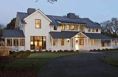 Black window frames look great on a modern farmhouse.
