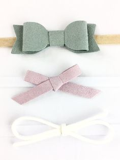 Cute baby headbands infant baby bow gift set