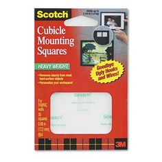1 X Permanent Heavy Duty Mounting Squares for Fabric Wall...