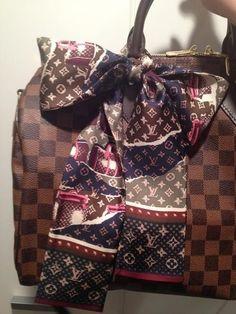 Louis Vuitton Scarf & Bag #bags #fashion