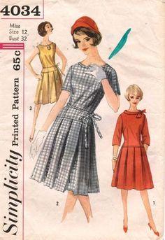 1950s Vintage Simplicity Misses Dress Pattern 4034 S 12