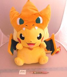 Pokemon Center Pikachu 피카츄 Mega size Plush Doll shopper plastic bag With gifts #PokemonCenter