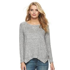 Women's Juicy Couture Embellished Triangle Sweater