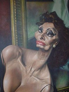 Sophia Loren Caricature Words cannot describe how talented Sebastian Kruger is at drawing caricatures