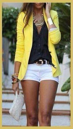 Blaiser amarelo.