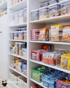 New Kitchen Organization Ideas - Home DIY/ Storage - Kitchen Ideas Kitchen Organization Pantry, Diy Kitchen Storage, Diy Storage, Organized Pantry, Storage Ideas, Kitchen Organizers, Pantry Ideas, Closet Ideas, Storage Solutions