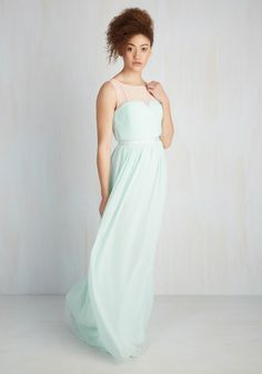 Terrace Ceremony Dress. As a breeze rustles the airy skirt of your soft mint gown by Wendy Bird, the music chimes and your bestie approaches the aisle. #mint #prom #wedding #bridesmaid #modcloth