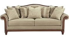 Austin Camel Back Sofa With Rolled Arms And Nailhead Trim By Broyhill Furniture At Conlin 39 S