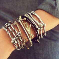 ✯ Stack of Bones Bracelet ✯