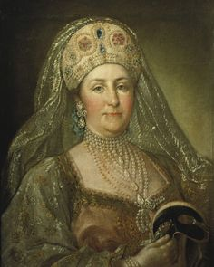 Catherine II (the Great), Empress of Russia; in the style of Stefano Torelli, c. 1780.