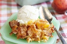 This quick and easy recipe for my Mom's Peach Cobbler is one of my all time favorites. It has the best flavor and is so simple to make! #peach #cobbler #recipe #easy