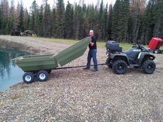 Transformation, Tetrapod, ATV trailer, Tetra-pod, Tetrapod boat, ATV Cart, Plastic ATV Trailer, Plastic Tub Trailer