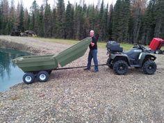 Transformation, Tetrapod, ATV trailer, Tetra-pod, Tetrapod boat, ATV Cart, Plastic ATV Trailer, Plastic Tub Trailer