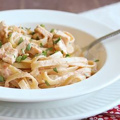 Salsa & Chicken Fettuccine - Dinner in 30 minutes!