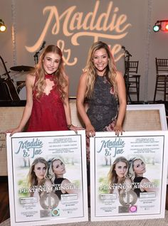 Hot new country duo Maddie & Tae celebrated the upcoming release of their debut album with a party in Nashville. #maddieandtae #country #music #countrymusic #girlinacountrysong #fly #newalbum #newmusic #certifiedplatinum #albumrelease #maddiemarlow #taylordye
