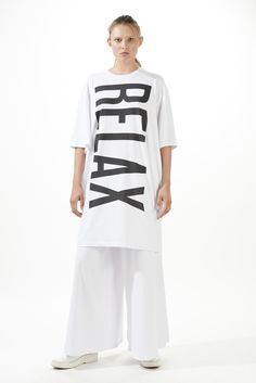 White Relax T-shirt Dress | Omelya | Shop | NOT JUST A LABEL