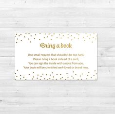 Bring A Book Instead Of A Card Baby Shower White And By Vocatio