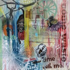Come Waste Your Time With Me- 24 x 24, mixed media on panel, 2011